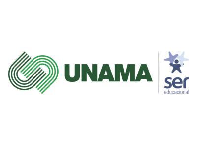 Imagem mostra logo da UNAMA