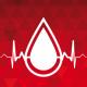 Imagem mostra símbolo da doação de sangue